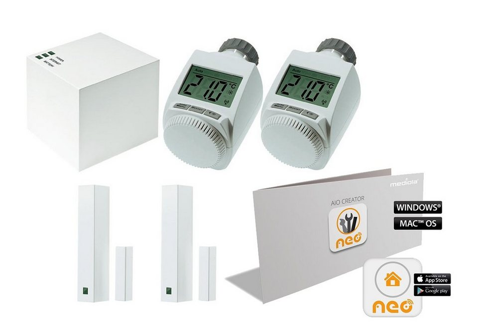 MAX! Smart Home Energie & Komfort »SET: MAX! Starterset+AIO CREATOR NEO MAX! Edition« in weiss