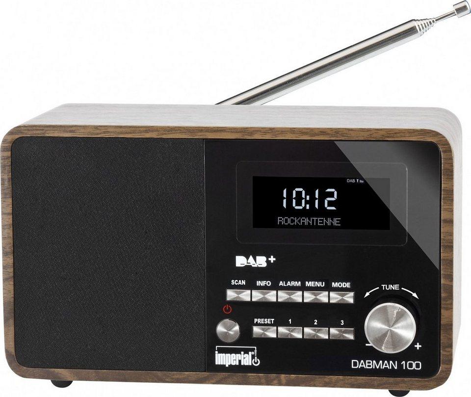 IMPERIAL DAB+ und UKW Radio »DABMAN 100« in Holzoptik
