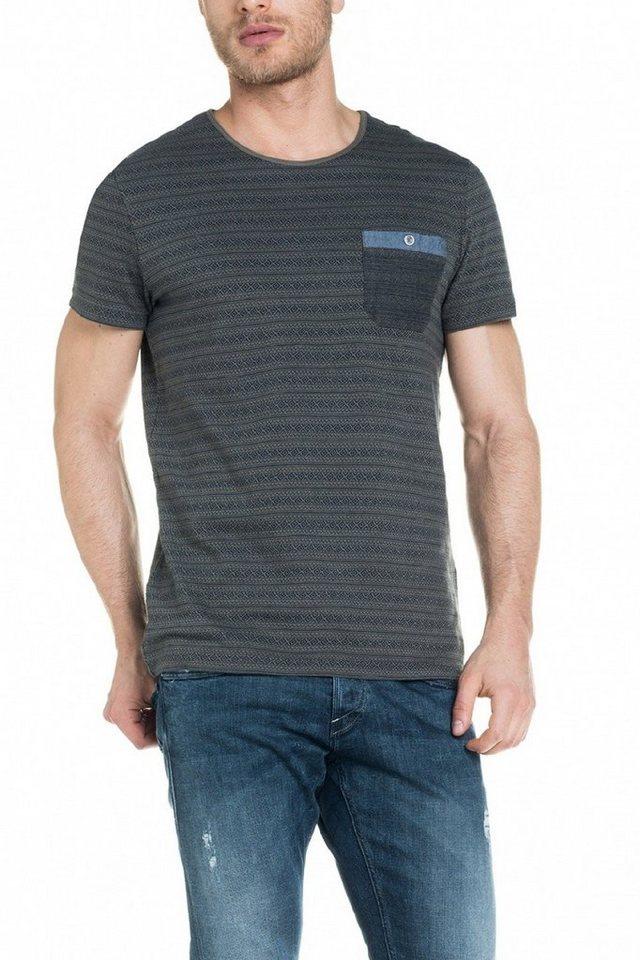 salsa jeans T-Shirt, kurzarm in Green