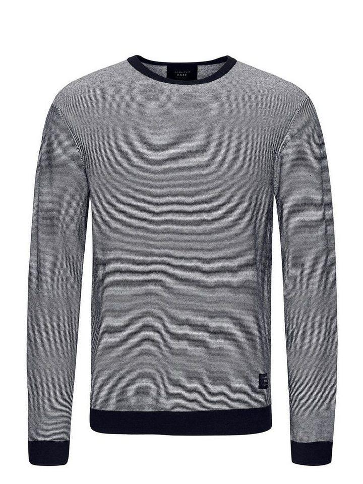 Jack & Jones Melange- Pullover in Navy Blazer 2