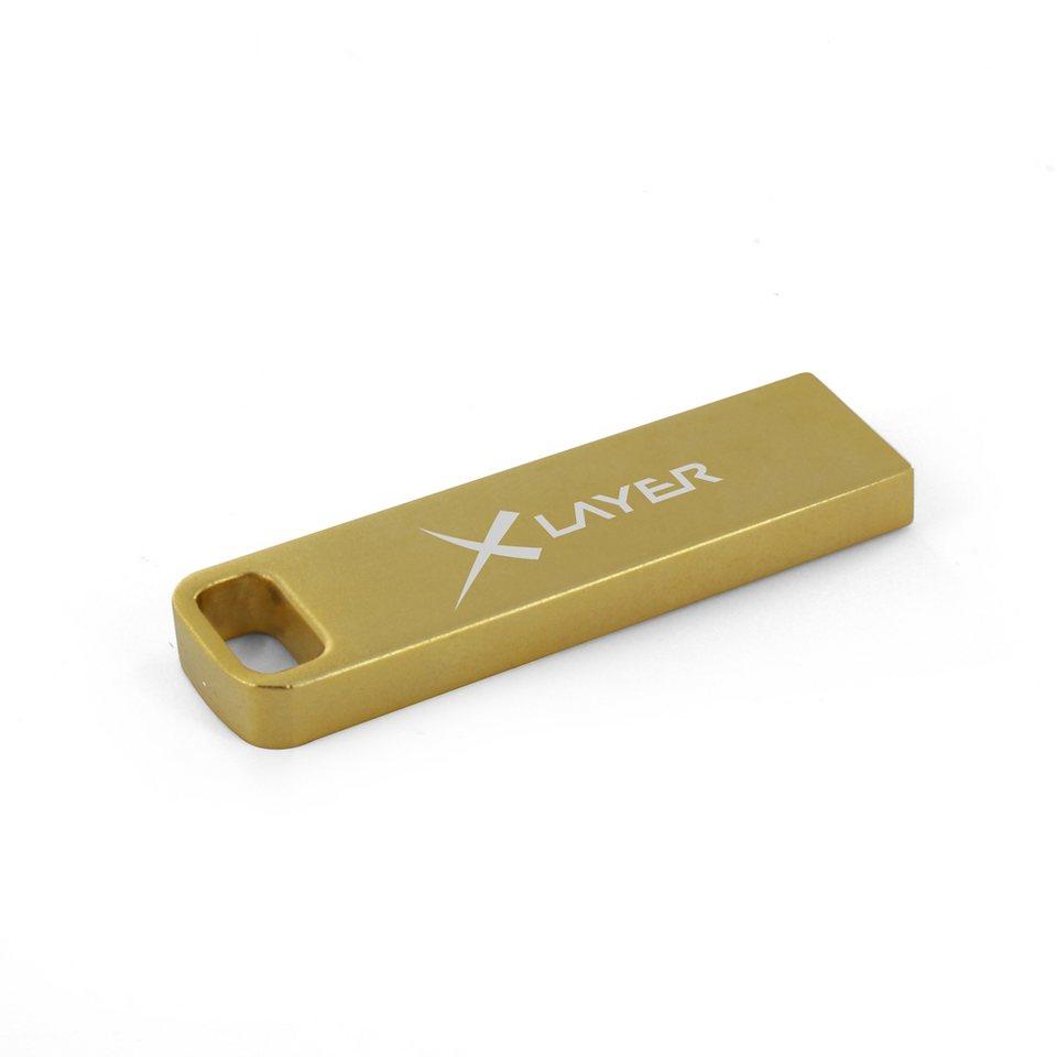 XLayer USB »8GB XLayer Aluminium gold«