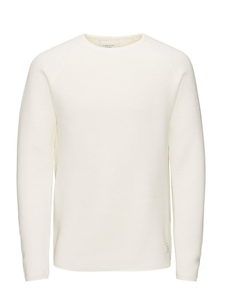 Jack & Jones Doppellagiger Struktur- Pullover in Lily White