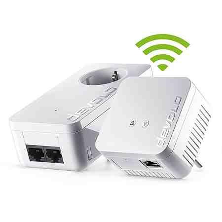 DEVOLO Powerline + WLAN »dLAN 550 WiFi Kit (500Mbit, 1xLAN,Repeater,range+)«