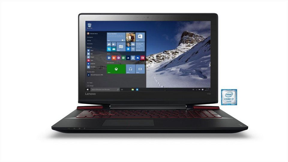 "LENOVO IdeaPad Y700-15ISK Notebook »Intel Core i7, 39,6cm (15,6""), 512GB SSD, 16GB« in schwarz"
