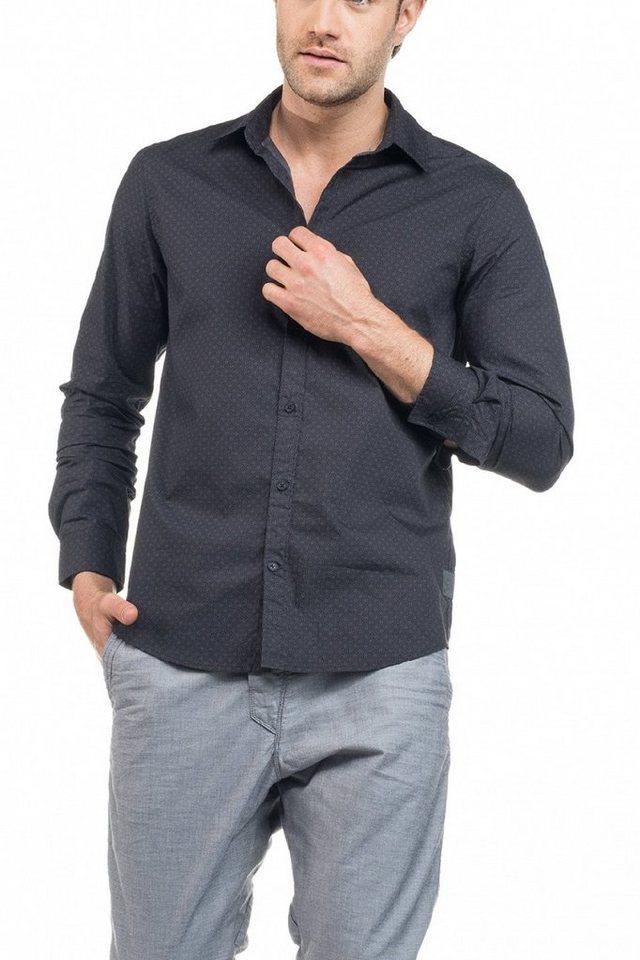 salsa jeans Hemd »MONACO« in Black