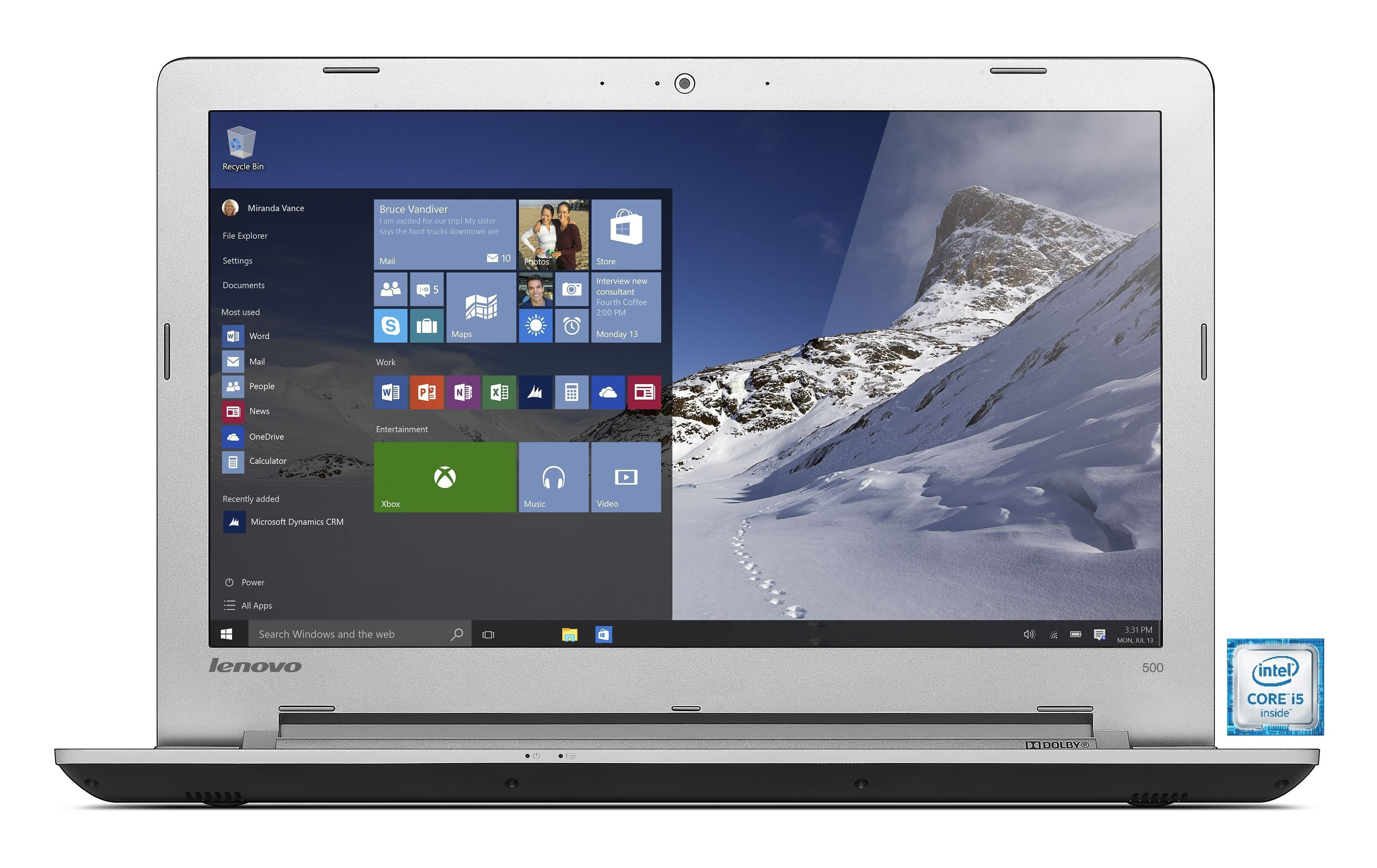 "LENOVO IdeaPad 500-15ISK Notebook »Intel-Core i5, 39,6cm (15,6""), 1 TB, 4 GB«"