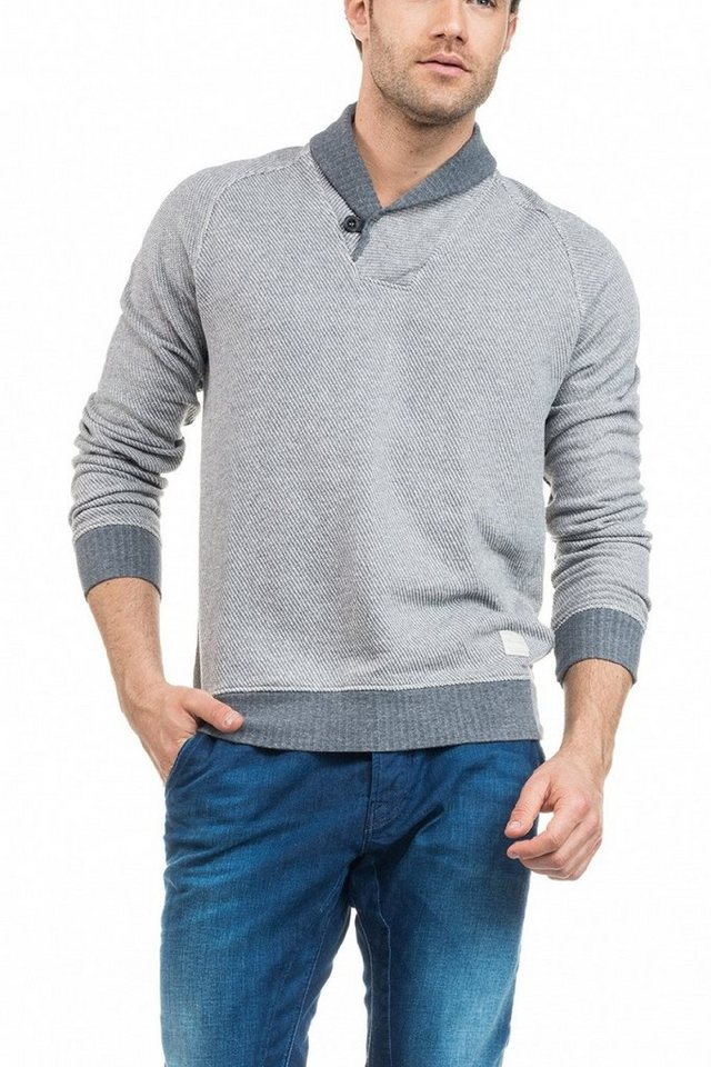 salsa jeans Pullover »SANTIAGO« in Grey