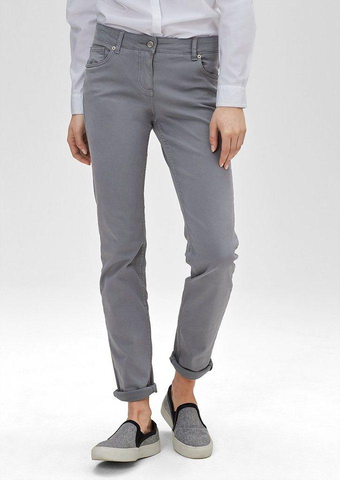 s.Oliver RED LABEL Shape Slim: Colored Stretch-Jeans in grey denim stretch