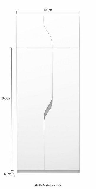 Schränke und Kommoden - Müller SMALL LIVING Kleiderschrank »PLANE Ausstattung Nr. 5« inklusive einer innenliegenden Tür und einer Kleiderstange für Blusen und Blazer oder Kinderbekleidung  - Onlineshop OTTO