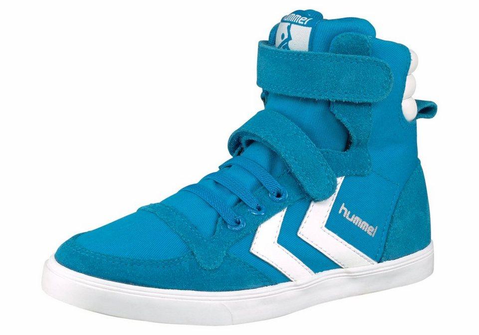 Hummel Slimmer Stadil Canvas Sneaker in Türkis-Weiß