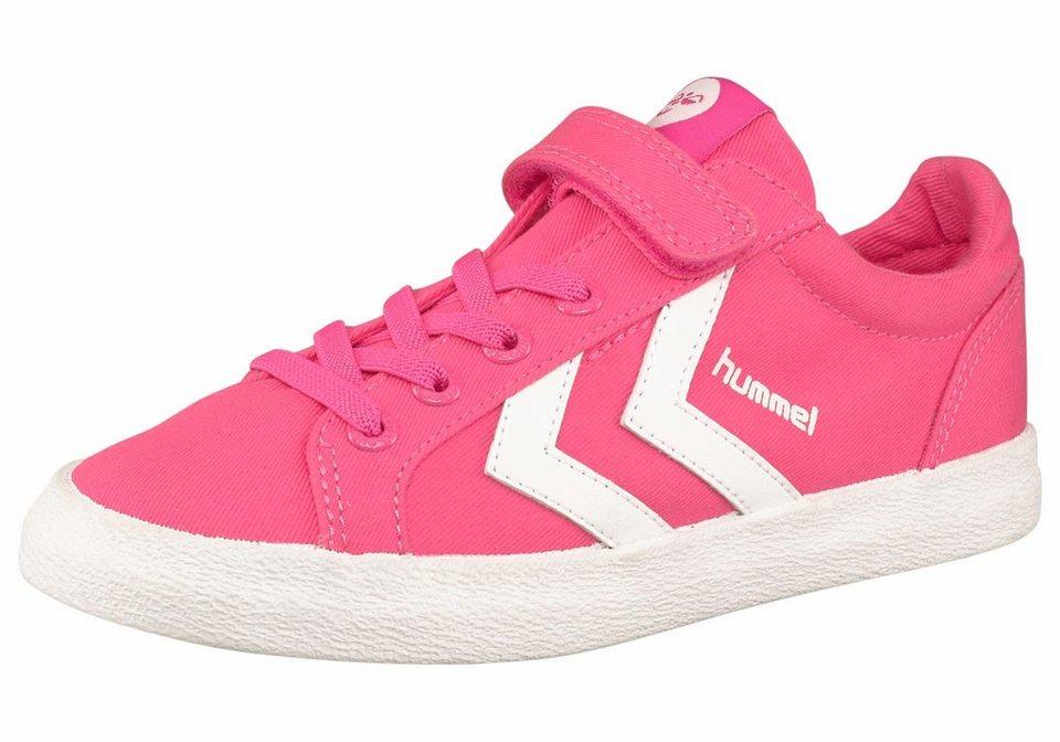 Hummel Deuce Court Junior Sneaker in Pink-Weiß