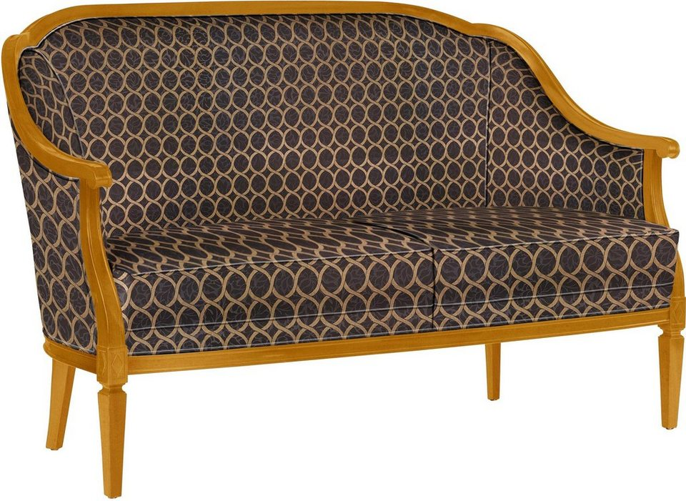 SELVA Sofa »Villa Borghese« Modell 1375, kirschbaumfarbig antik in Feel black