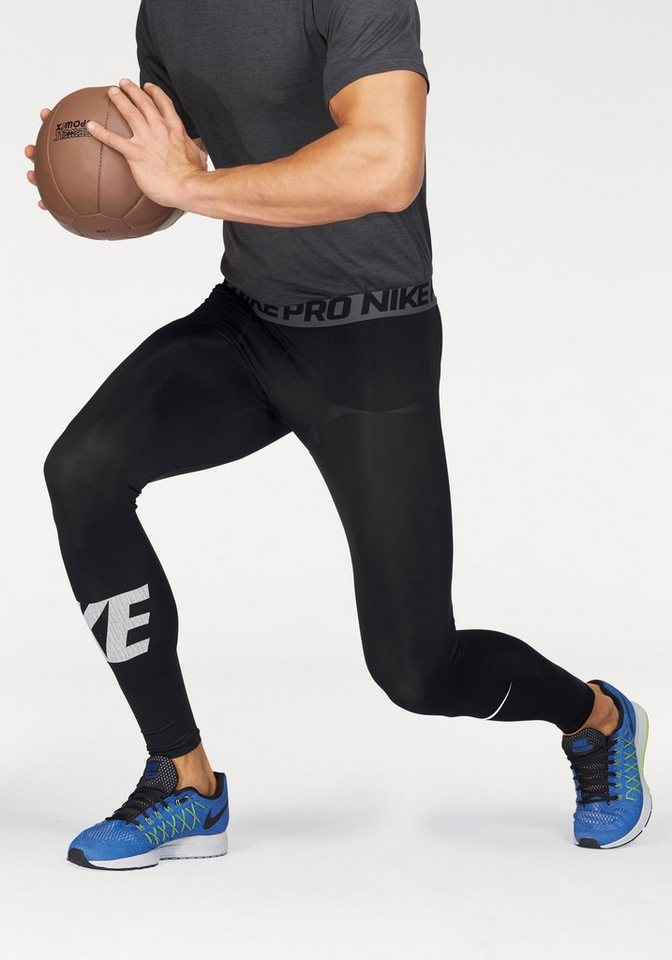 Nike PRO DRI-FIT TIGHT Funktionstights in Schwarz