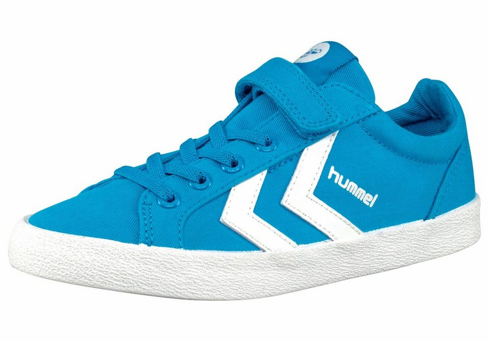 Hummel Deuce Court Junior Sneaker in Türkis-Weiß