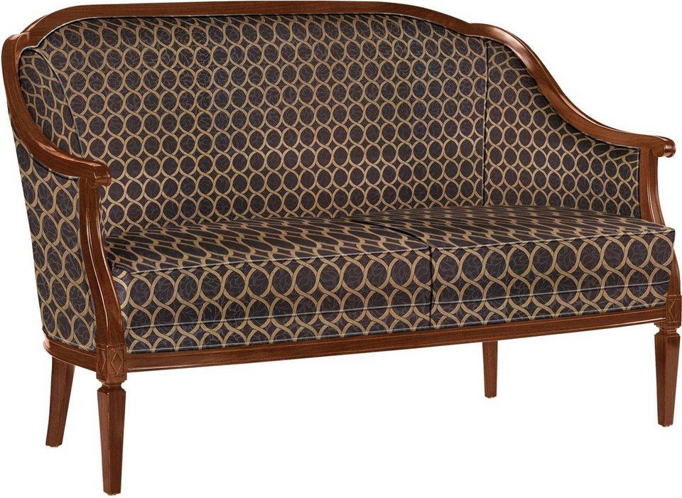 SELVA Sofa »Villa Borghese« Modell 1375, nussbaumfarbig antik in Feel black