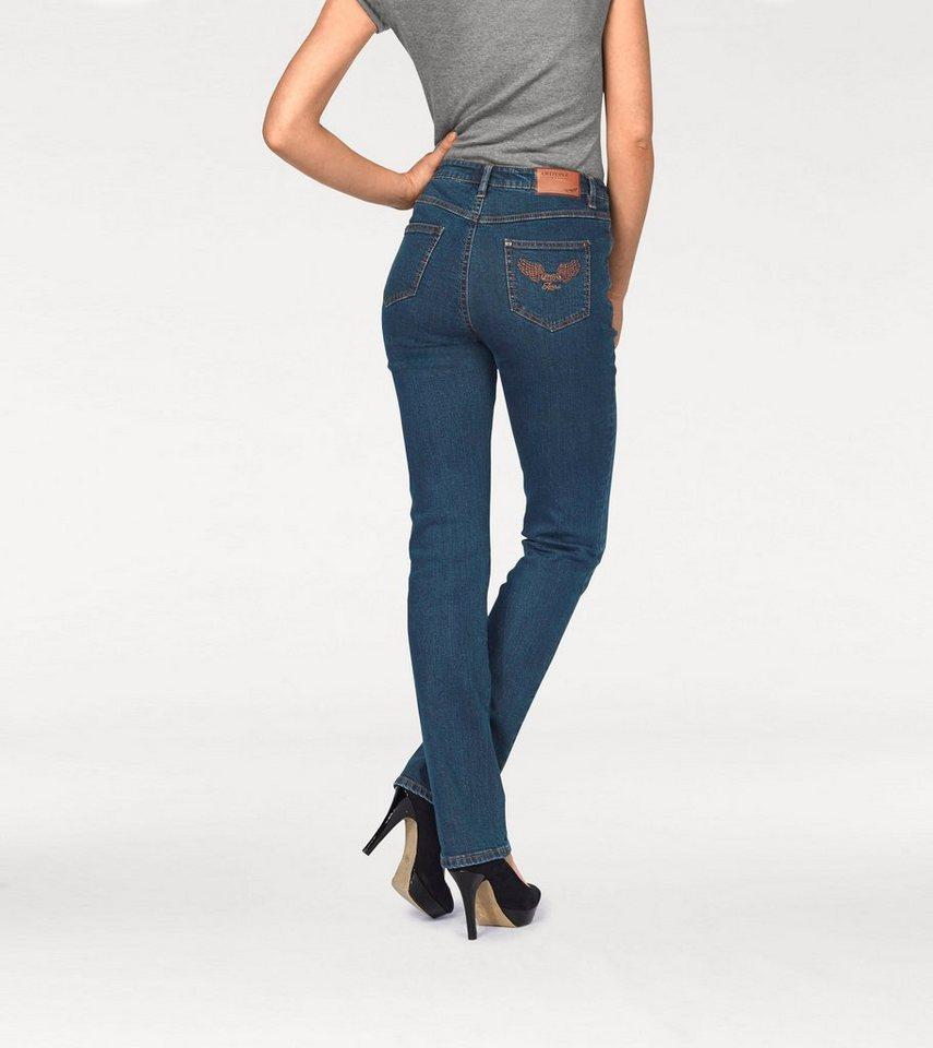 Arizona Gerade Jeans »Comfort-Fit« High Waist in blue-stone