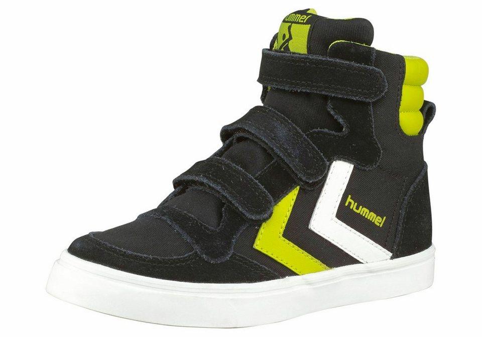 Hummel Stadil Canvas Junior Sneaker in Schwarz-Gelb