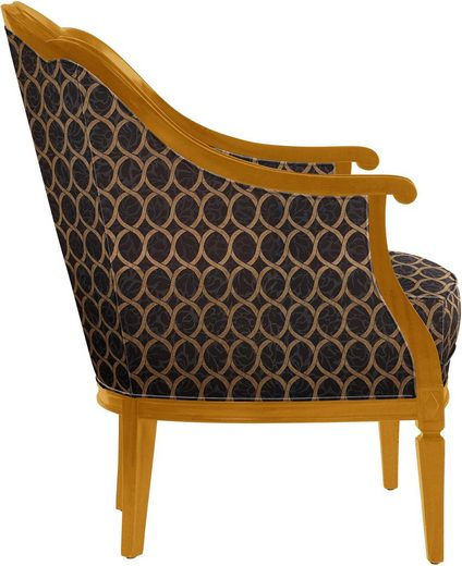 SELVA Sessel »Villa Borghese«  Modell 1374  kirschbaumfarbig antik