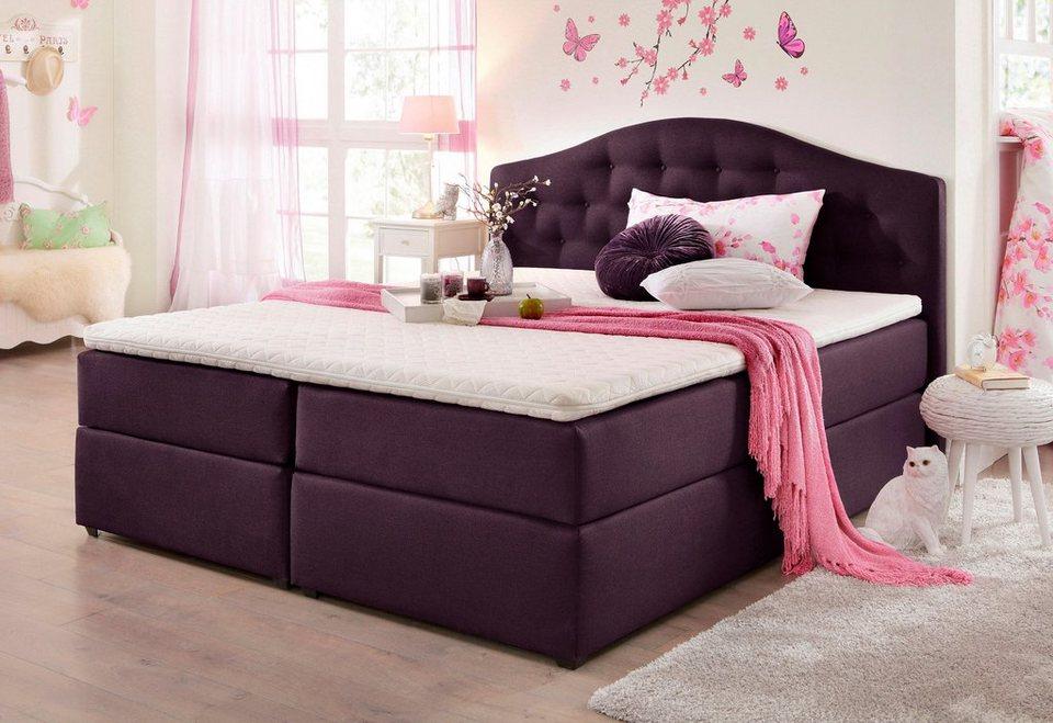home affaire boxspringbett amber online kaufen otto. Black Bedroom Furniture Sets. Home Design Ideas