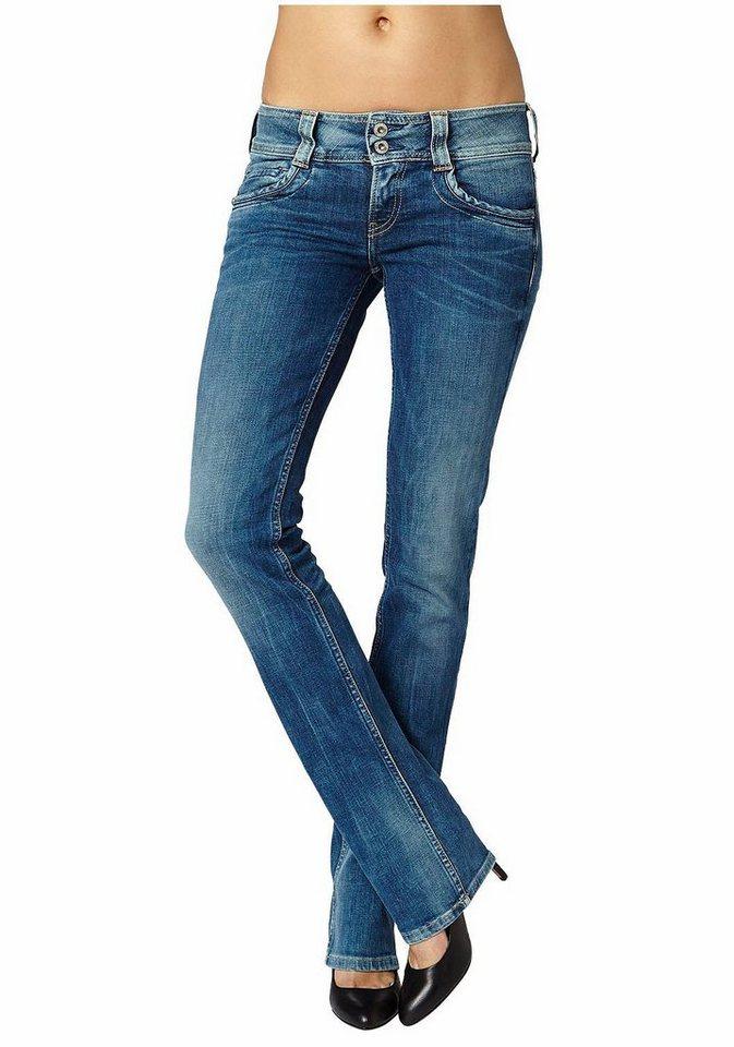 Pepe Jeans Straight-Jeans »GEN« mit breitem Bund in blue-stone