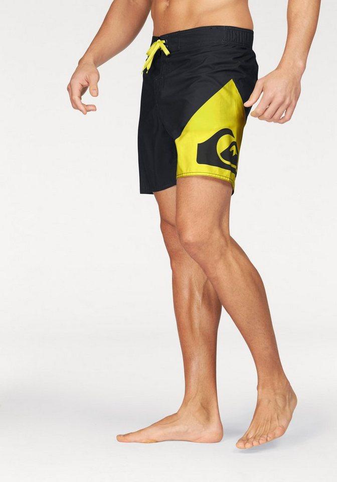 Quiksilver Boardshorts in schwarz-gelb
