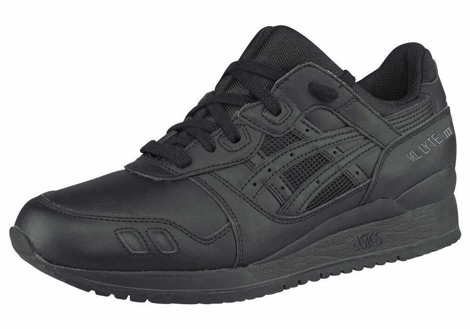 Asics Gel-Lyte III Sneaker mit gepolstertem Schaft in Schwarz