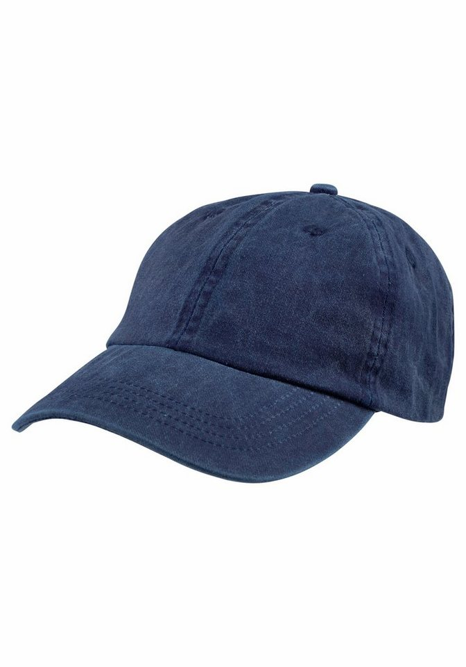 J. Jayz Baseball Cap im modischen Denim-Look in marine
