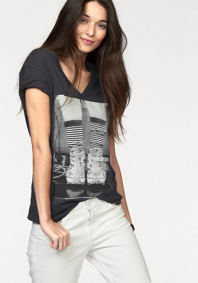 Converse T-Shirt in Anthrazit
