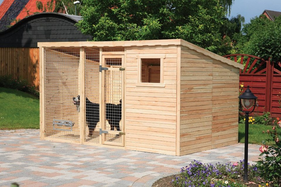 Hundezwinger, Grundfläche: 11,0 m², inkl. Fußboden in natur