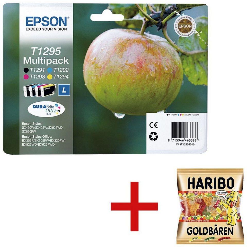 epson tintenpatronen set inkl fruchtgummi t1295 1 set. Black Bedroom Furniture Sets. Home Design Ideas