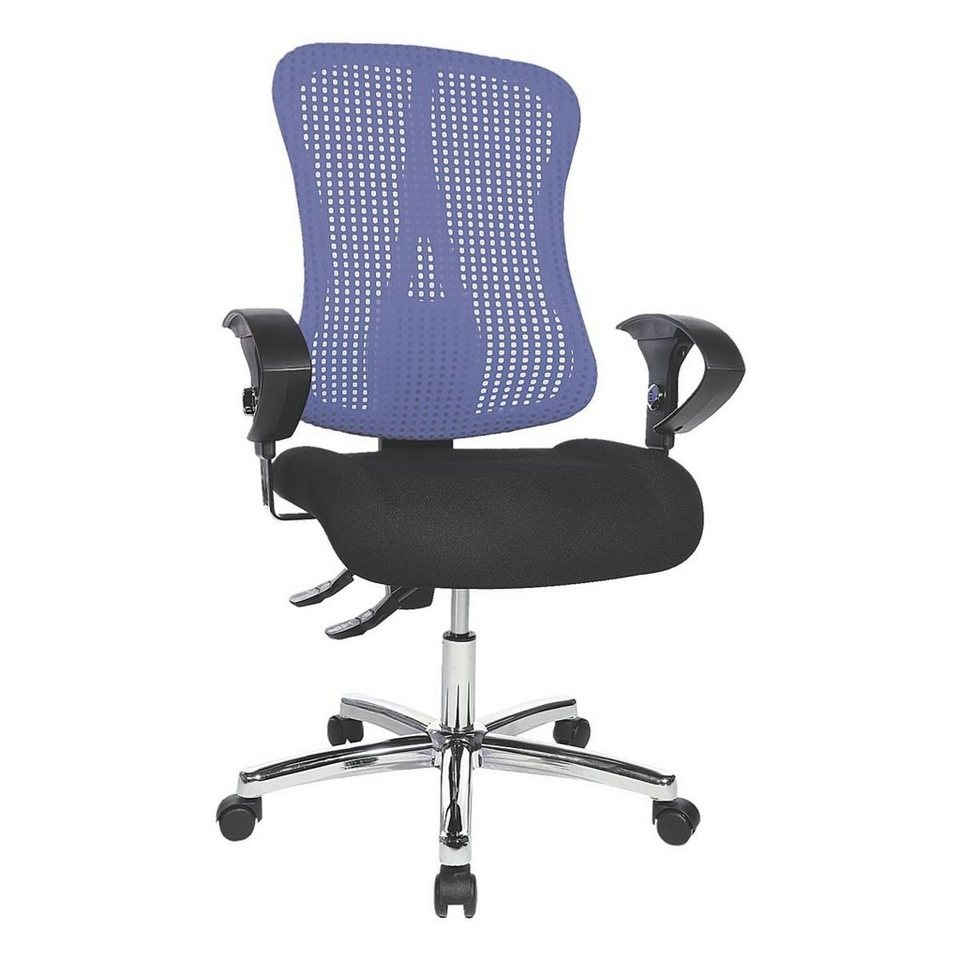 Topstar Bürostuhl »Sitness 90« mit Armlehnen in blau-schwarz