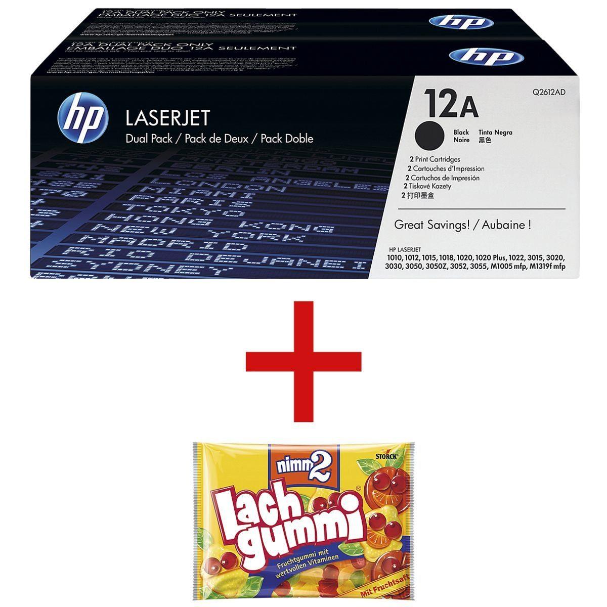 HP Doppelpack Druckkassetten 12A inkl. Fruchtgummi »HP Q2612AD« 1 Set
