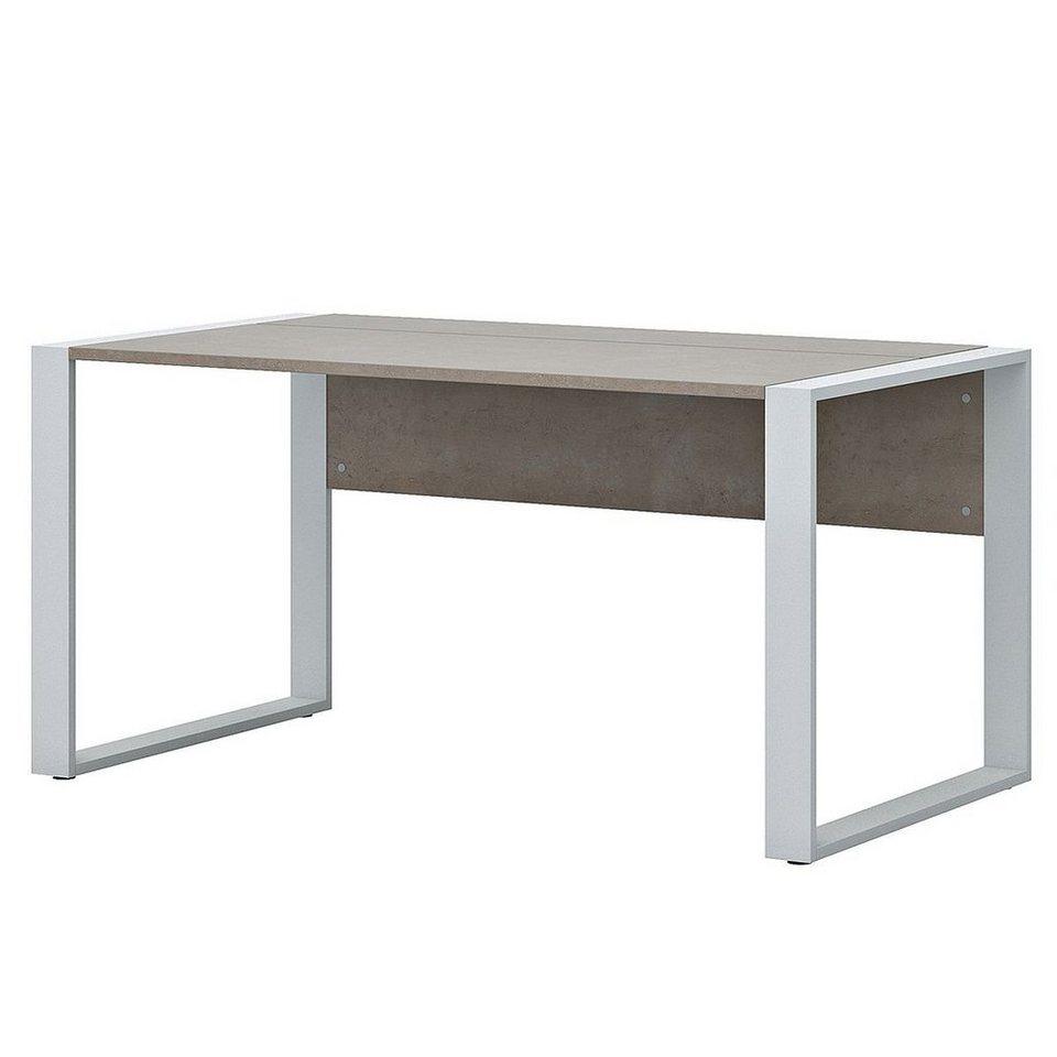 Schreibtisch in Beton