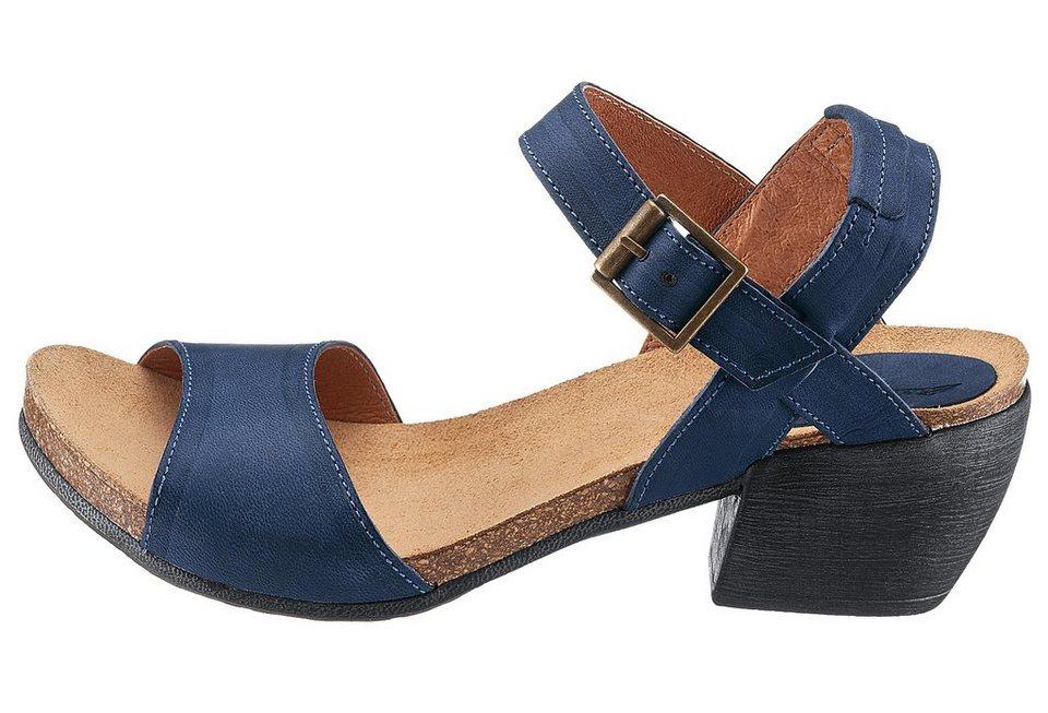Eddie Bauer Leder-Sandale in Blau