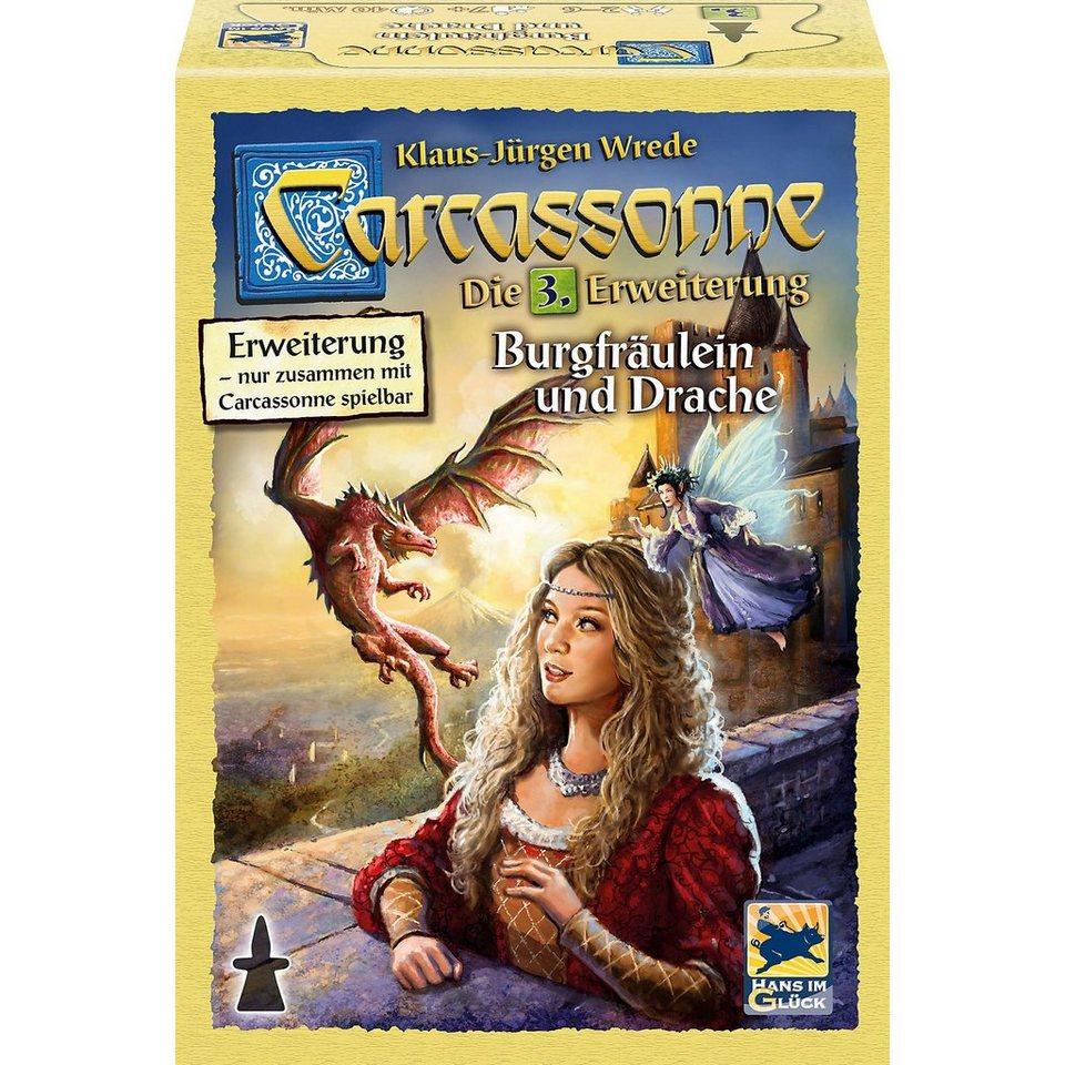 Hans im Glück Carcassonne, Erweiterung 3, Burgfräulein und Drache, neue Ed