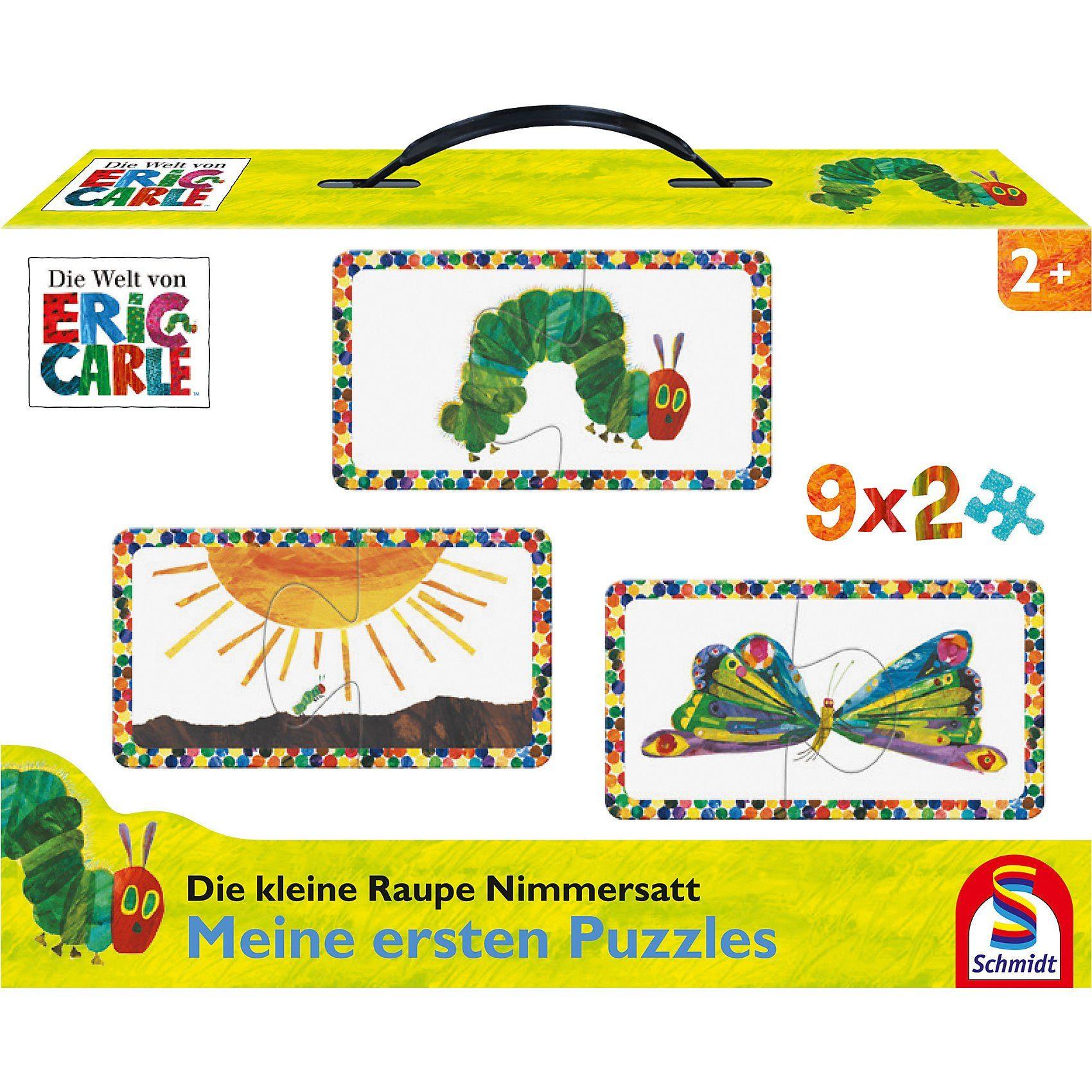 Schmidt Spiele Puzzleset Die kleine Raupe Nimmersatt, 9 x 2 Teile