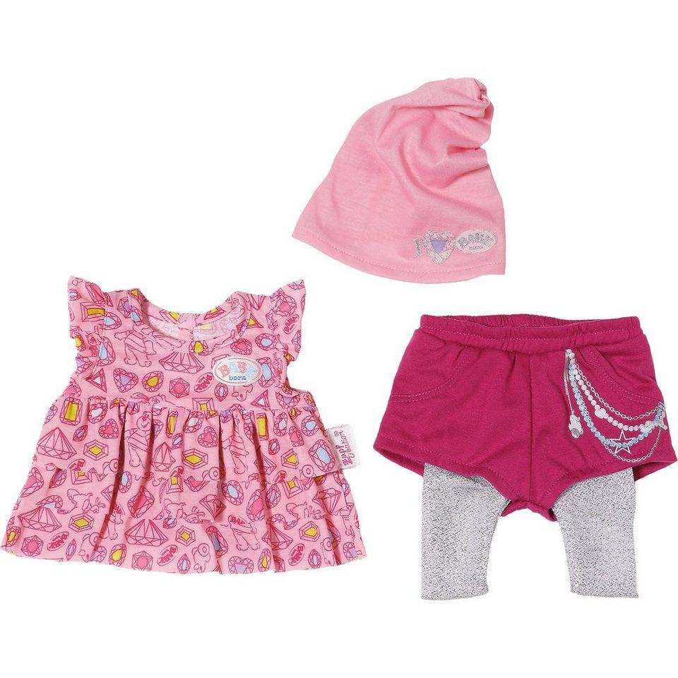 Zapf Creation BABY born® Fashion Puppenkleidung Kleid, Shorts, Leggings,