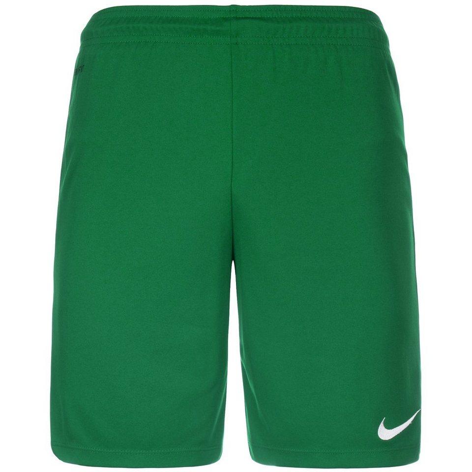 NIKE Park II Short Herren in grün / weiß