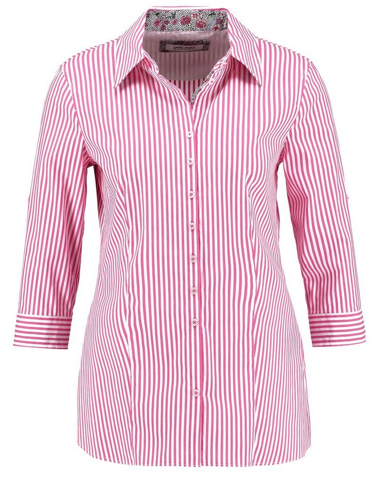 Gerry Weber Bluse 3/4 Arm »Sportive 3/4 Arm Bluse« in Weiss-Pink