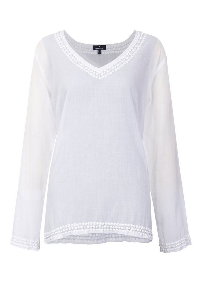 Daniel Hechter Bluse Langarm »Camomille« in white