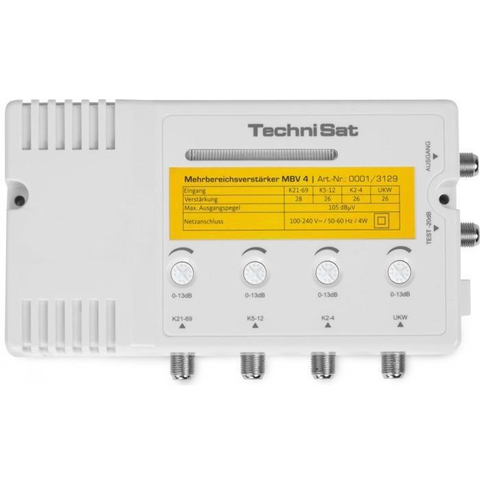 TechniSat Mehrbereichsverstärker »MBV 4« in weiß