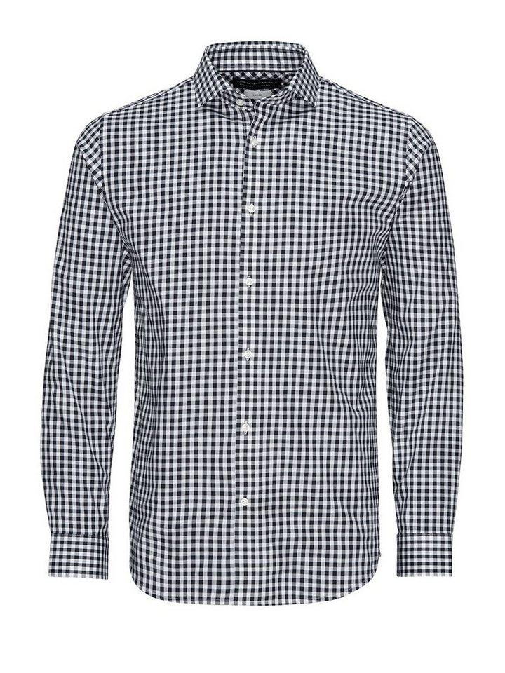 Jack & Jones Smartes Karo- Businesshemd in Navy Blazer