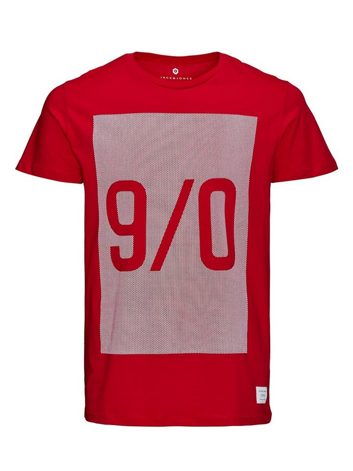 Jack & Jones Bedrucktes T-Shirt in Chinese Red
