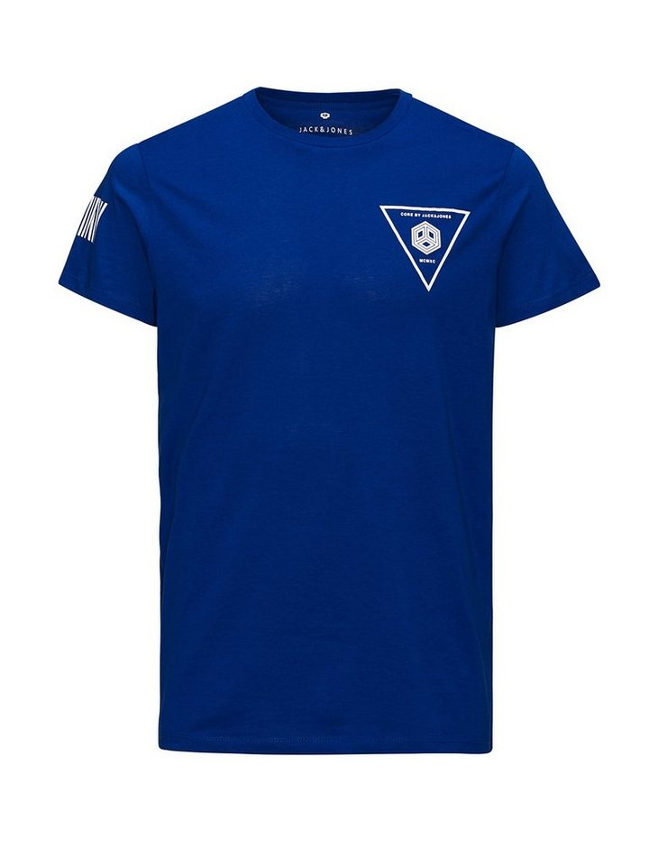 Jack & Jones Reflektierend detailliertes Long-Line T-Shirt in Surf the Web