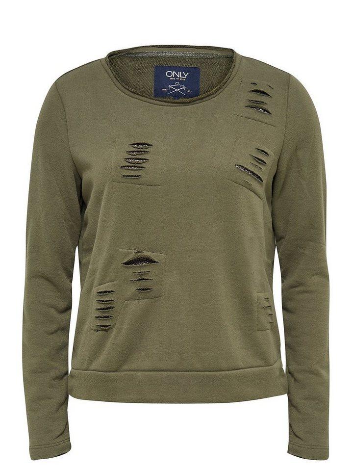 Only Destroy-Detail- Sweatshirt in Tarmac