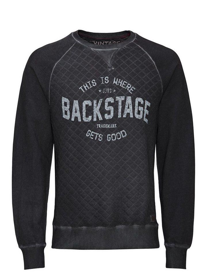 Jack & Jones Bedrucktes Stepp- Sweatshirt in Caviar