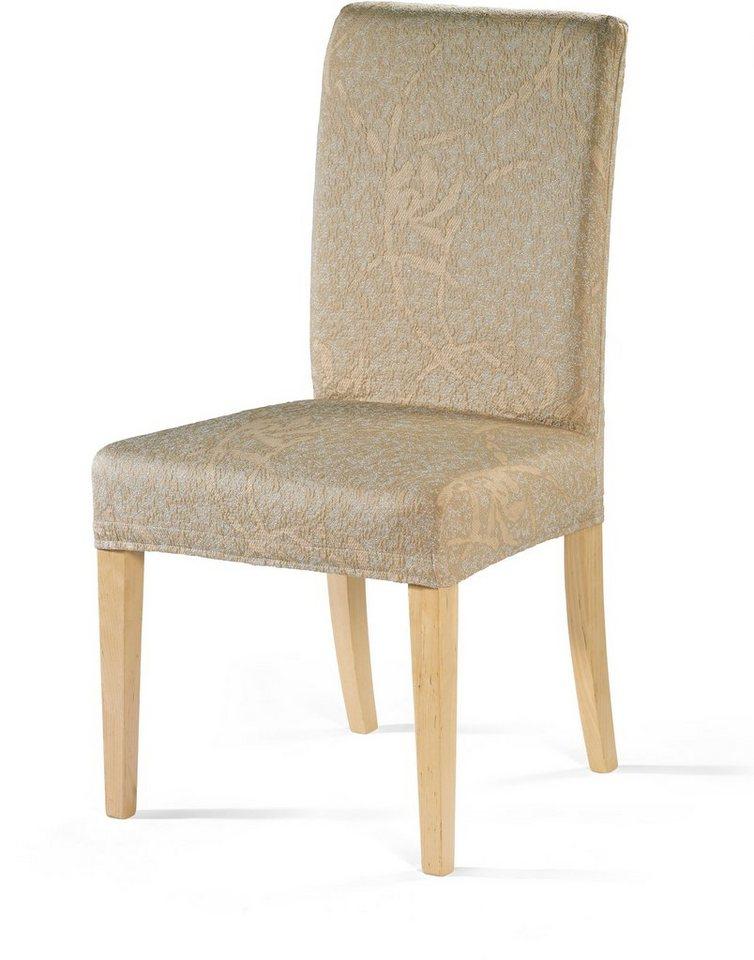 Stuhlhusse, Dohle & Menk, »Lisboa«, mit leichtem Muster in beige