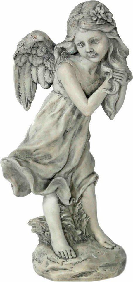 Home affaire Dekofigur »Elfenengel,stehend, antik grau« in grau