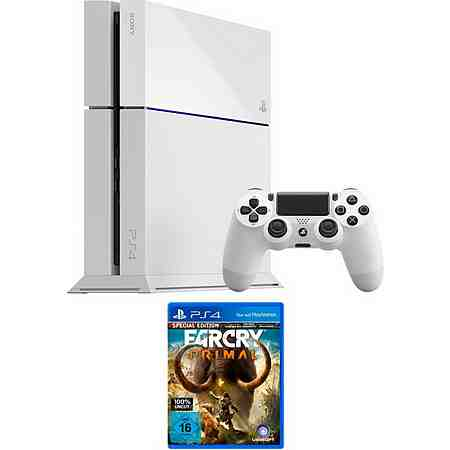 PlayStation 4 (PS4) 500GB + Far Cry Primal Konsolen-Set mit 3 Jahren Garantie*