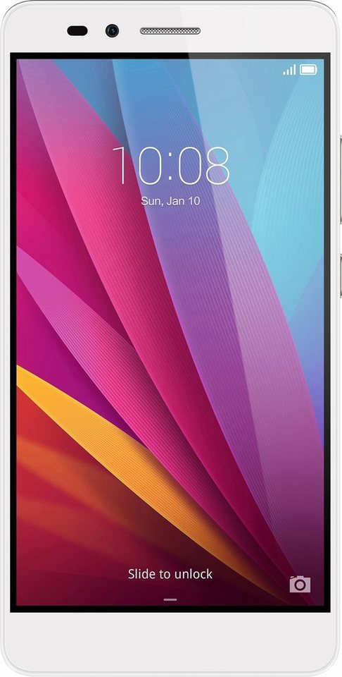 Honor 5X Smartphone, 13,9 cm (5,5 Zoll) Display, LTE (4G), Android 5.1 Lollipop in Silber
